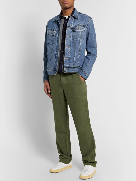 Oliver Spencer Tapered Linen Trousers