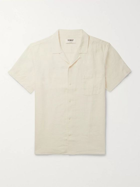 YMC Malick Camp-Collar Linen Shirt