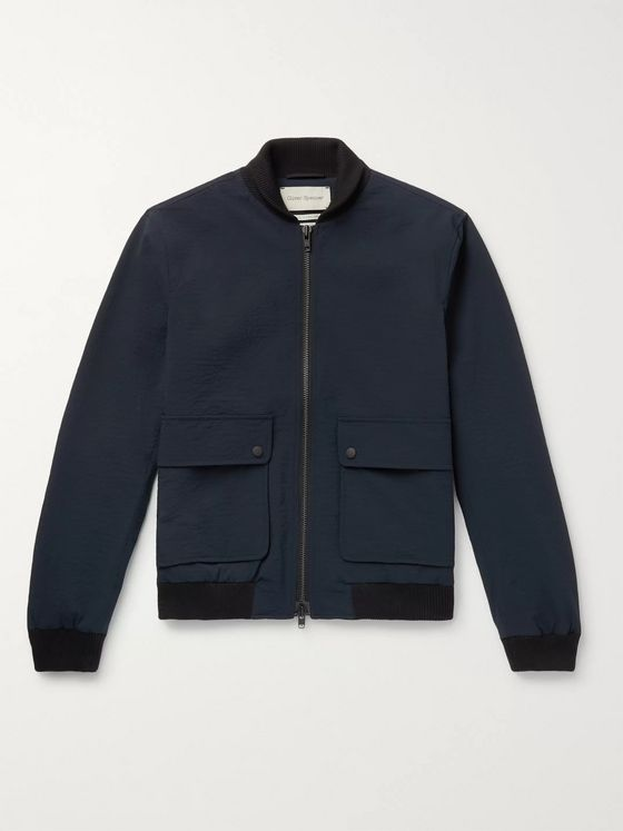Oliver Spencer Bermondsey Crinkled-Shell Bomber Jacket