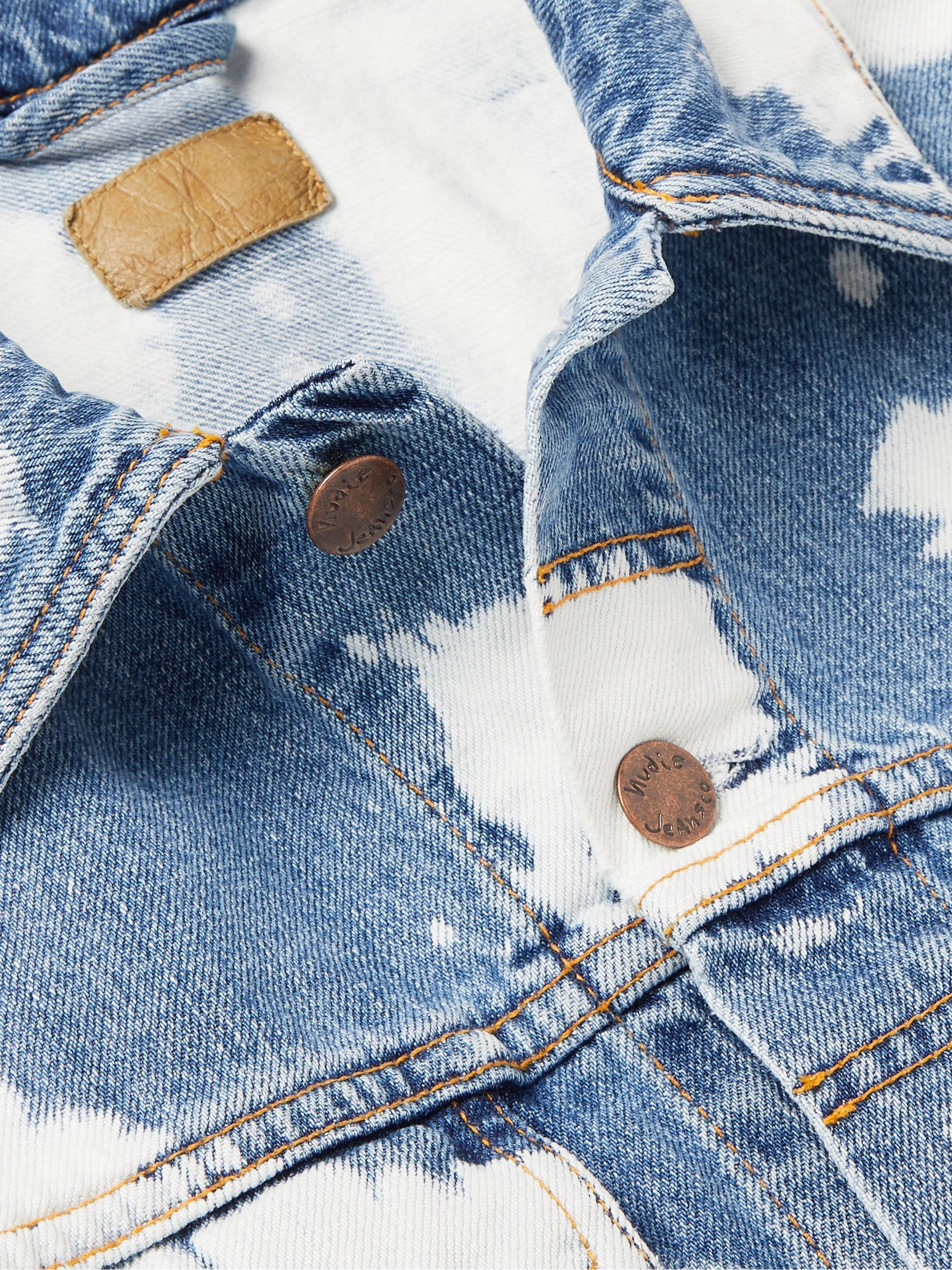 Nudie Jeans Jerry Bleached Denim Trucker Jacket