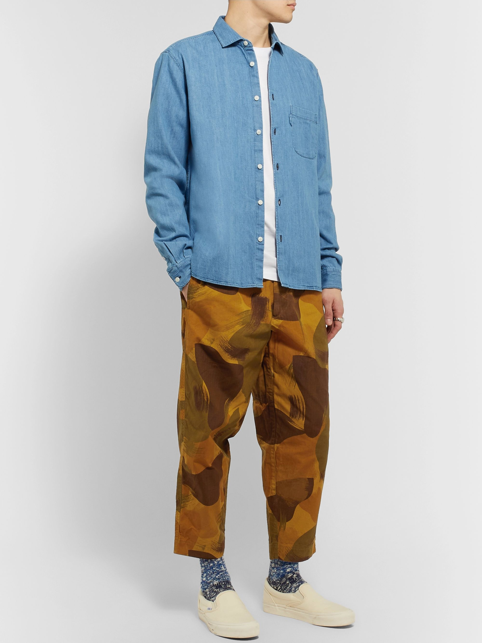 YMC Tapered Camouflage-Print Organic Cotton-Ripstop Trousers