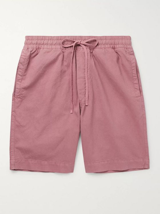 YMC Jay Cotton and Linen-Blend Drawstring Shorts