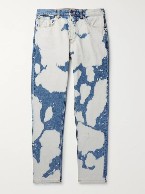 Nudie Jeans Steady Eddie II Tapered Bleached Organic Denim Jeans