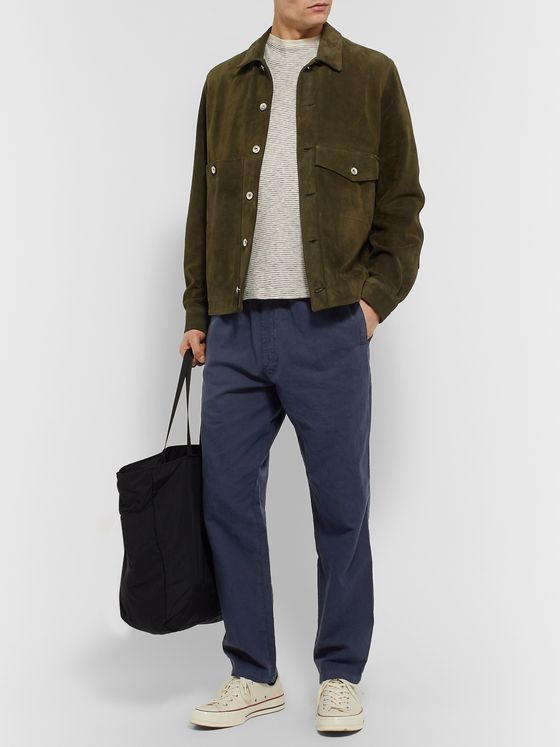 YMC Alva Cotton and Linen-Blend Drawstring Trousers