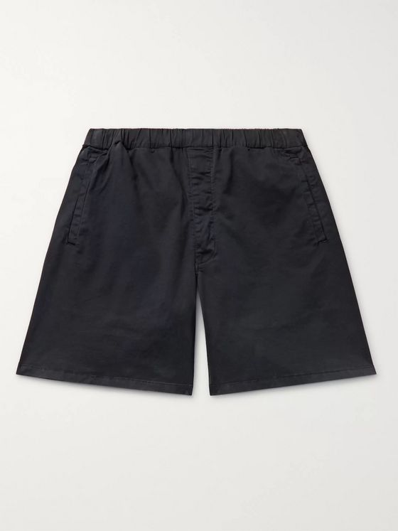 Barbour White Label Cove Wide-Leg Stretch-Cotton Twill Drawstring Shorts