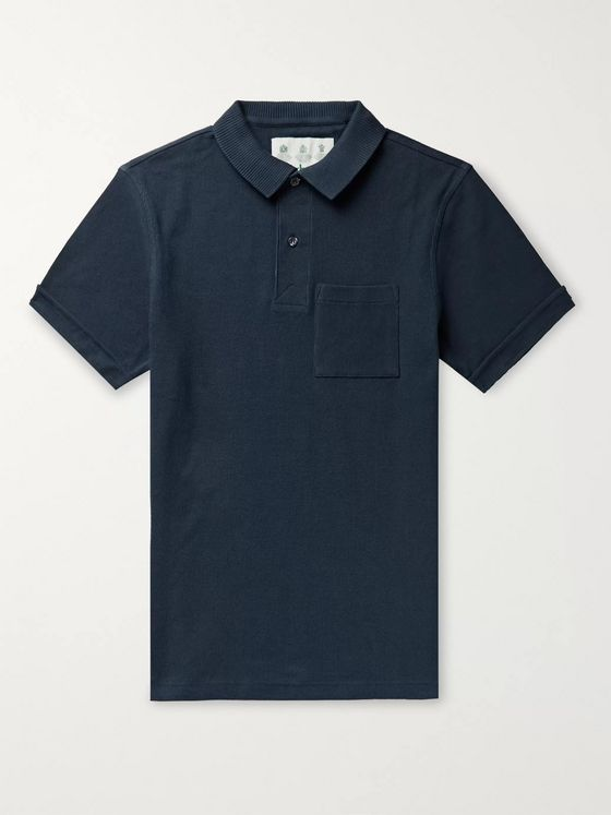 Barbour White Label Belhaven Slim-Fit Waffle-Knit Cotton Polo Shirt