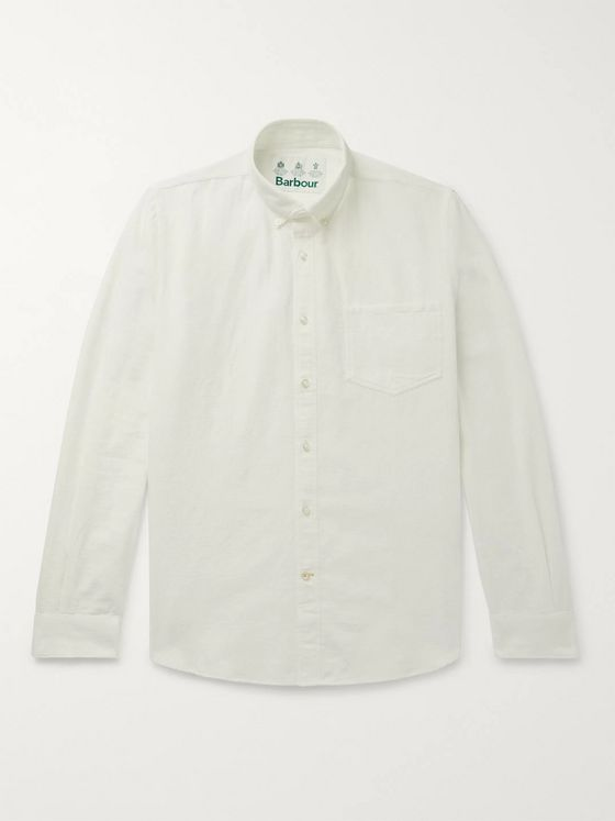 Barbour White Label Dunbar Button-Down Collar Slub Cotton Shirt