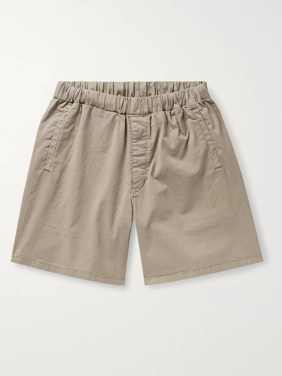 Barbour White Label Cove Wide-Leg Cotton-Blend Twill Drawstring Shorts