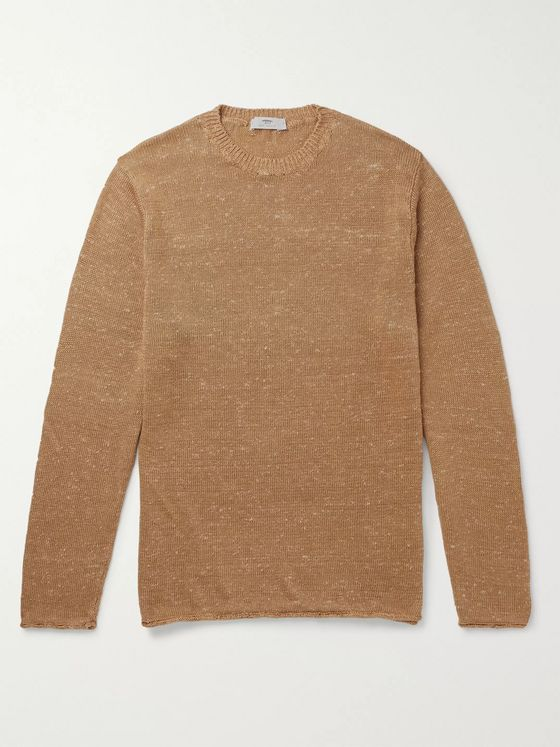 Inis Meáin Donegal Linen and Silk-Blend Sweater