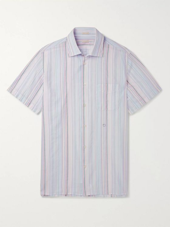 Massimo Alba Striped Cotton Shirt