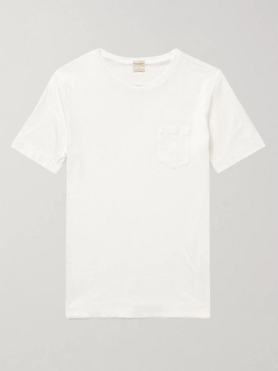Massimo Alba Alicudi Slim-Fit Linen T-Shirt
