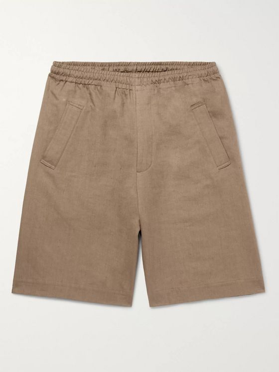 Margaret Howell Linen and Cotton-Blend Twill Drawstring Shorts