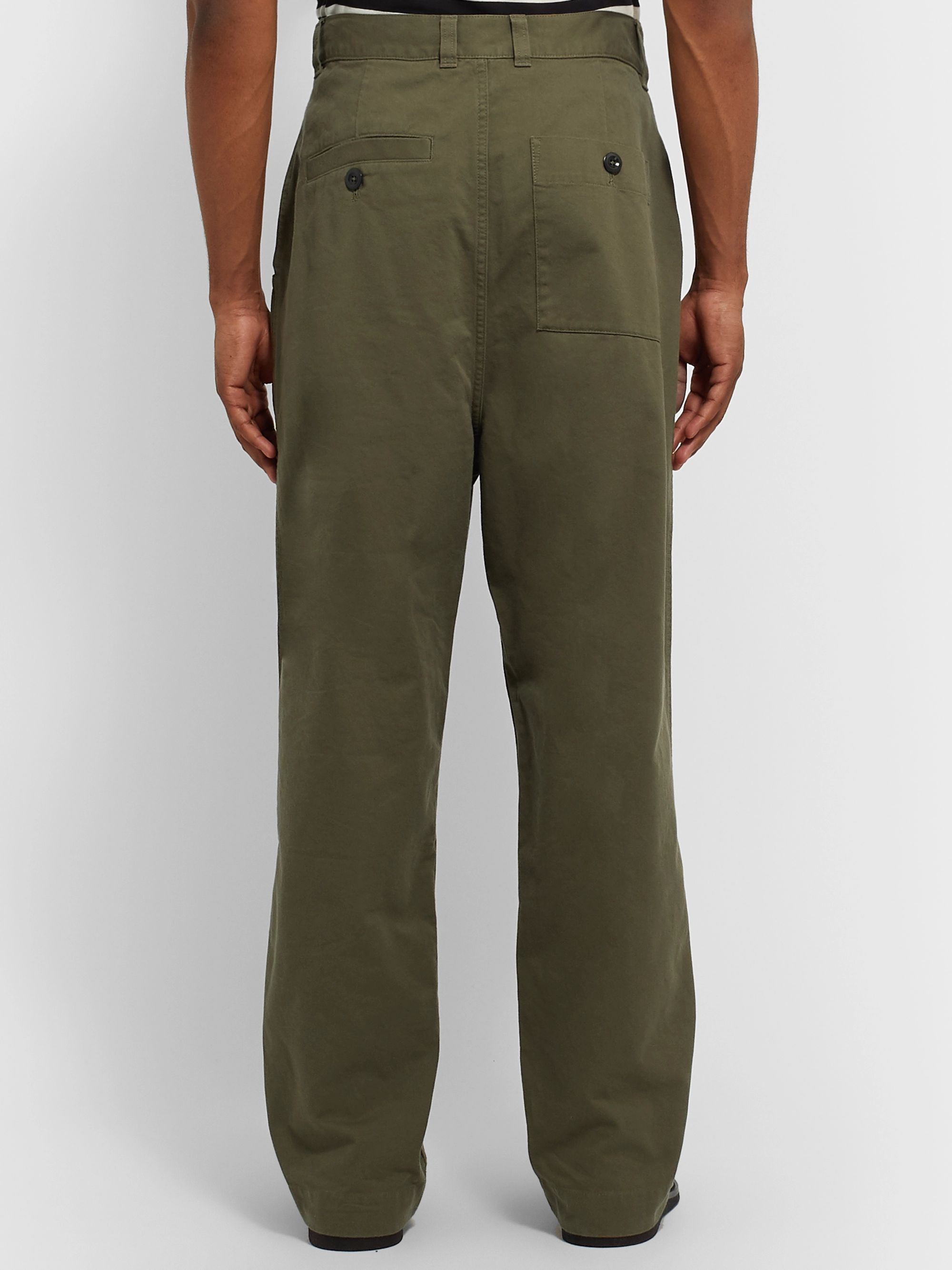Margaret Howell MHL Pleated Cotton-Drill Trousers