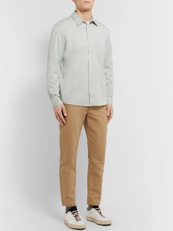 Club Monaco Tencel and Cotton-Blend Twill Shirt