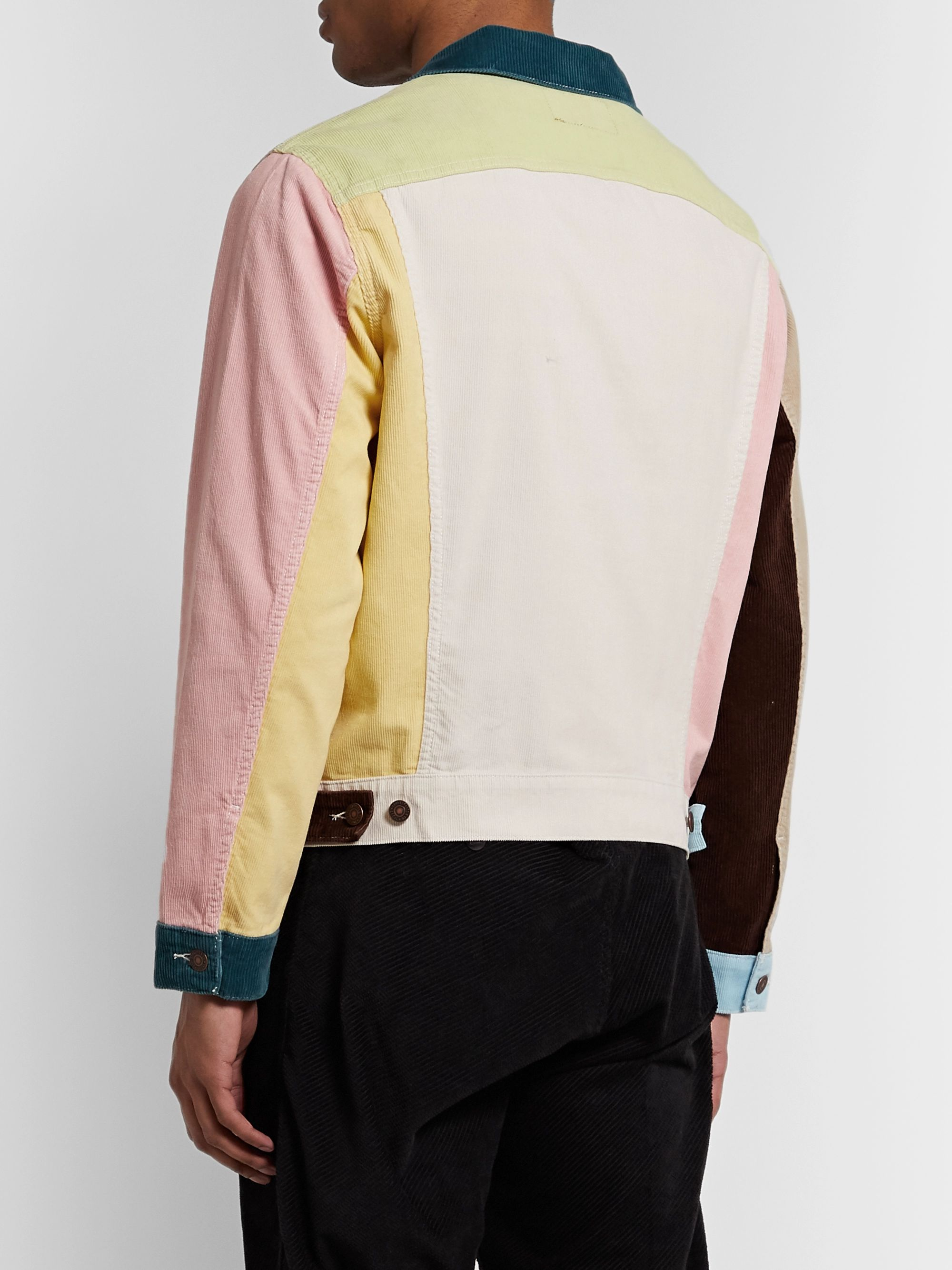 Levi's Vintage Clothing Soap Box Colour-Block Cotton-Corduroy Trucker Jacket