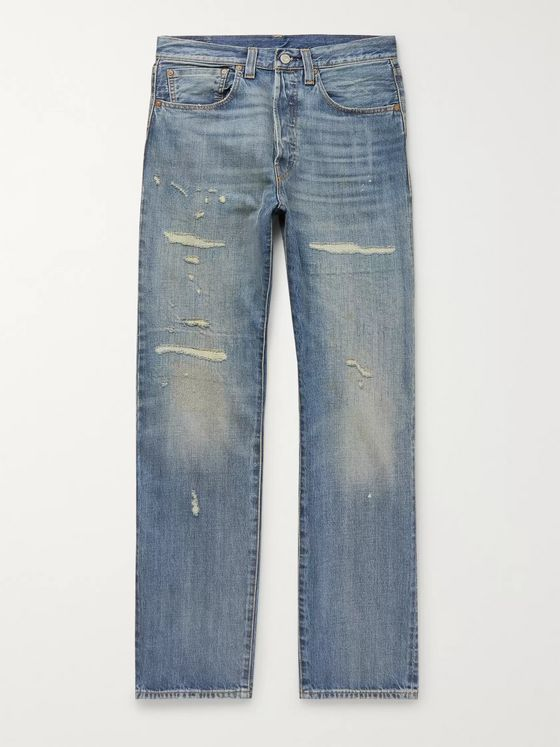 Levi's Vintage Clothing 1947 501 Distressed Denim Jeans