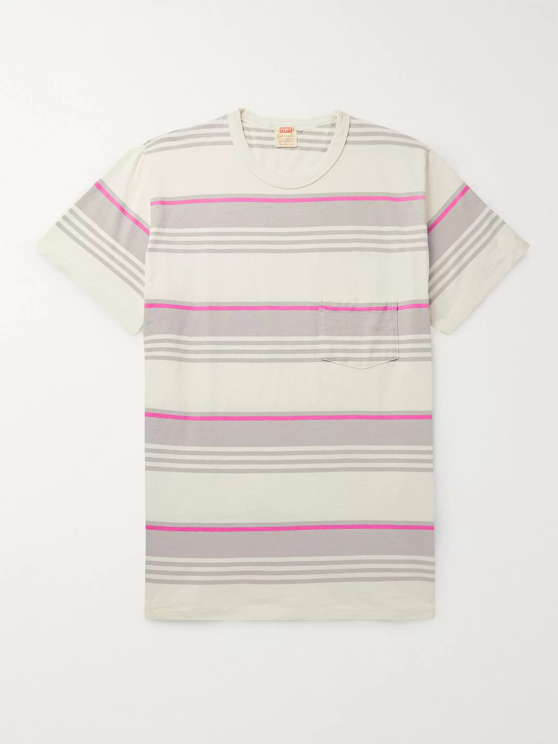 levi's vintage clothing - 1960s striped cotton-jersey t-shirt - men - gray