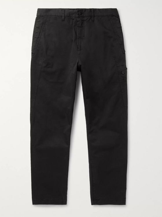 Stone Island Shadow Project Slim-Fit Garment-Dyed Cotton-Blend Gabardine Trousers