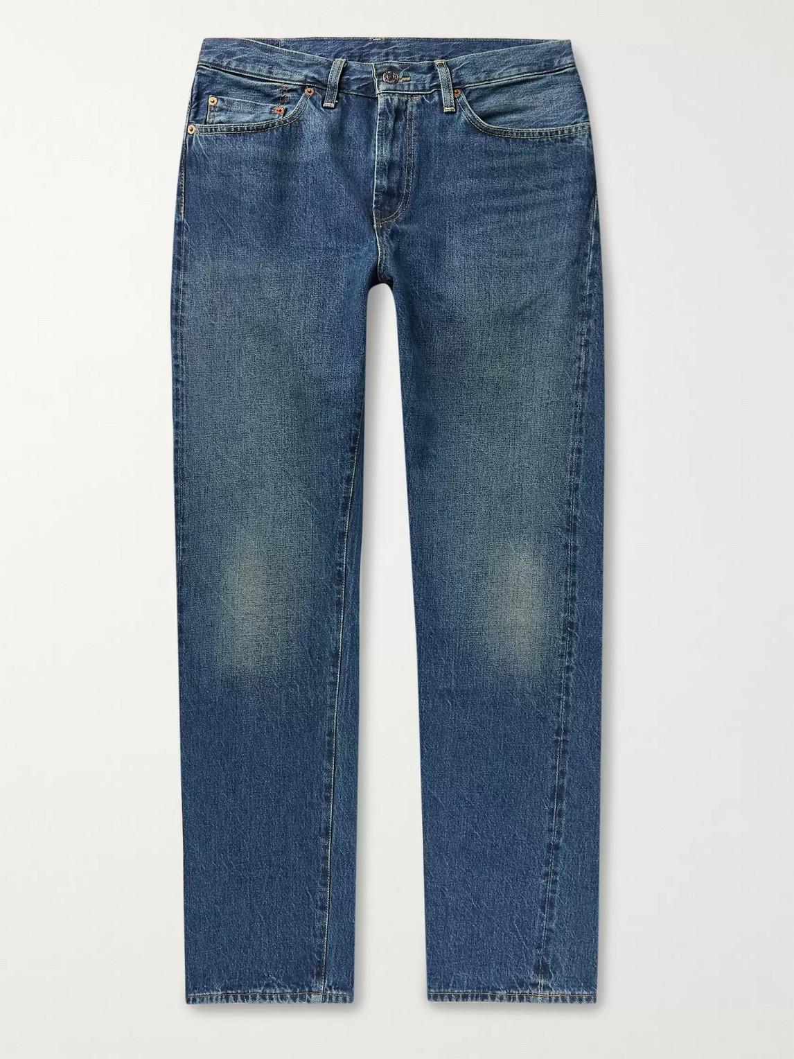 levi's vintage clothing - 1954 501 original selvedge-denim jeans - men - blue