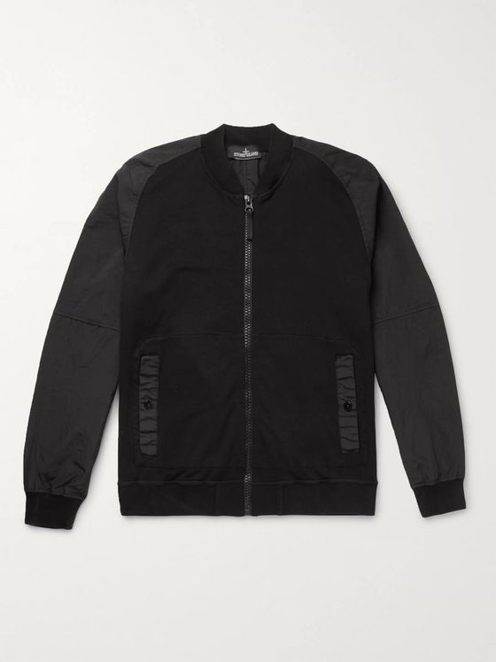 Stone Island Shadow Project Garment-Dyed Cotton-Blend and Shell Bomber Jacket