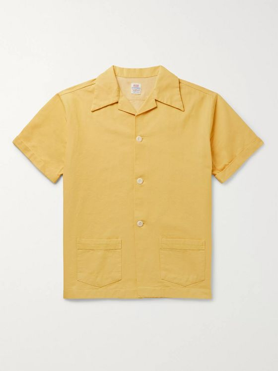 Levi's Vintage Clothing Denim Family Camp-Collar Cotton Shirt