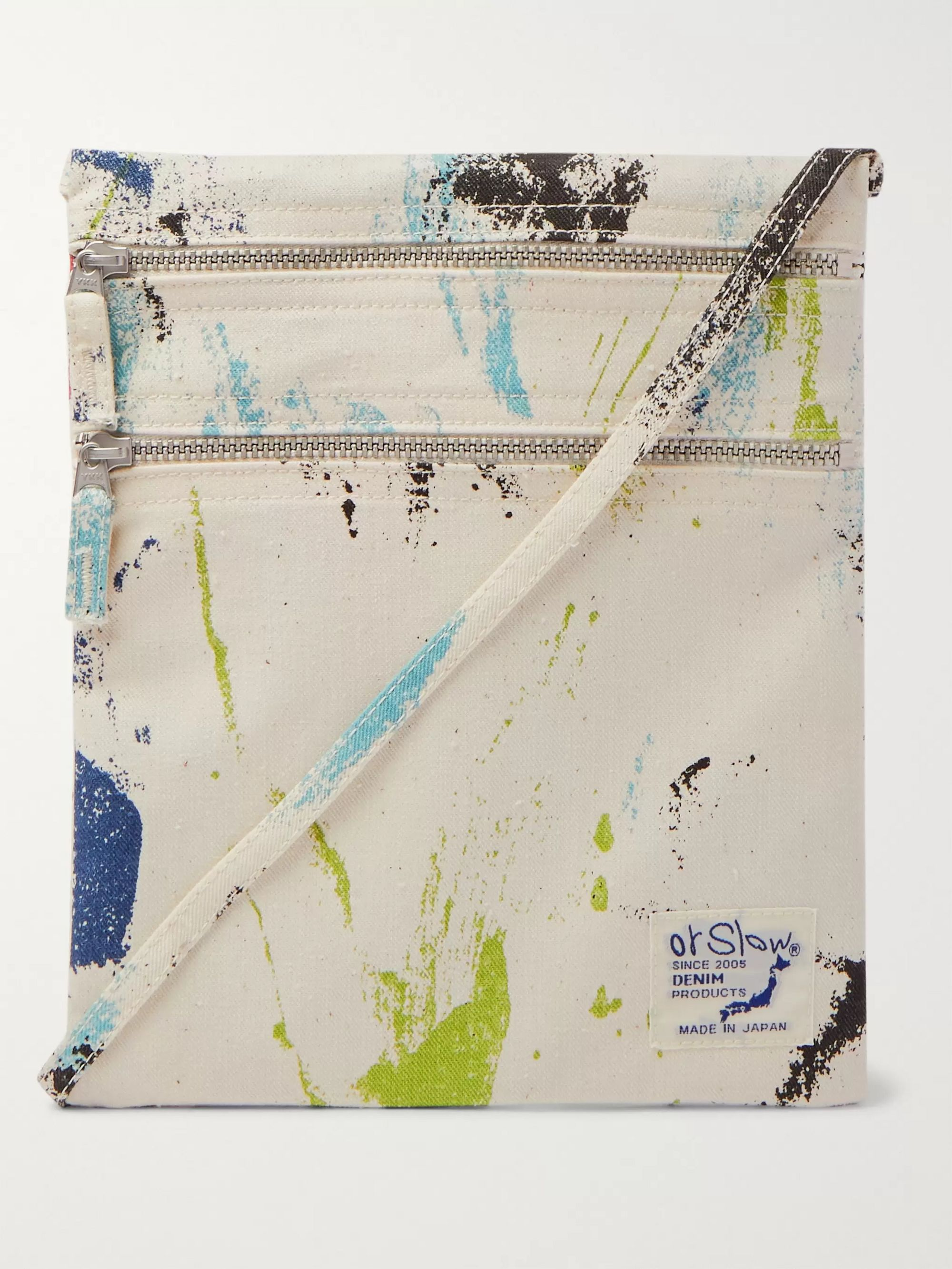 OrSlow Printed Denim Pouch