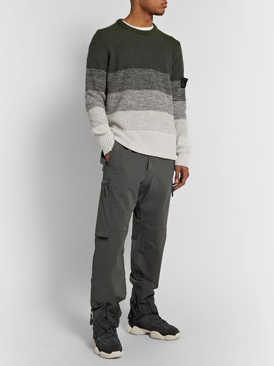 Stone Island Shadow Project Striped Dégradé Cotton Sweater