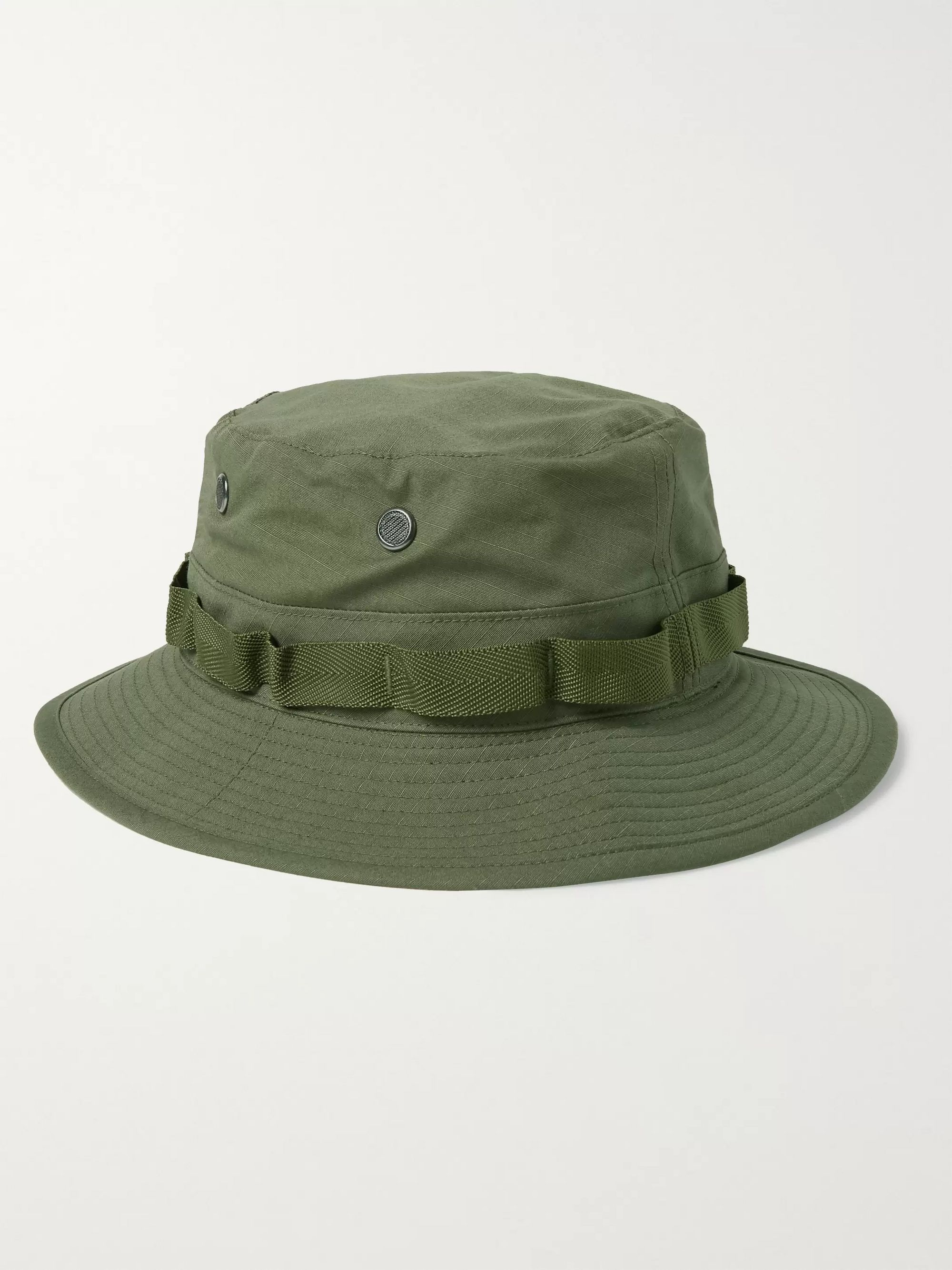 OrSlow Webbing-Trimmed Cotton-Ripstop Bucket Hat