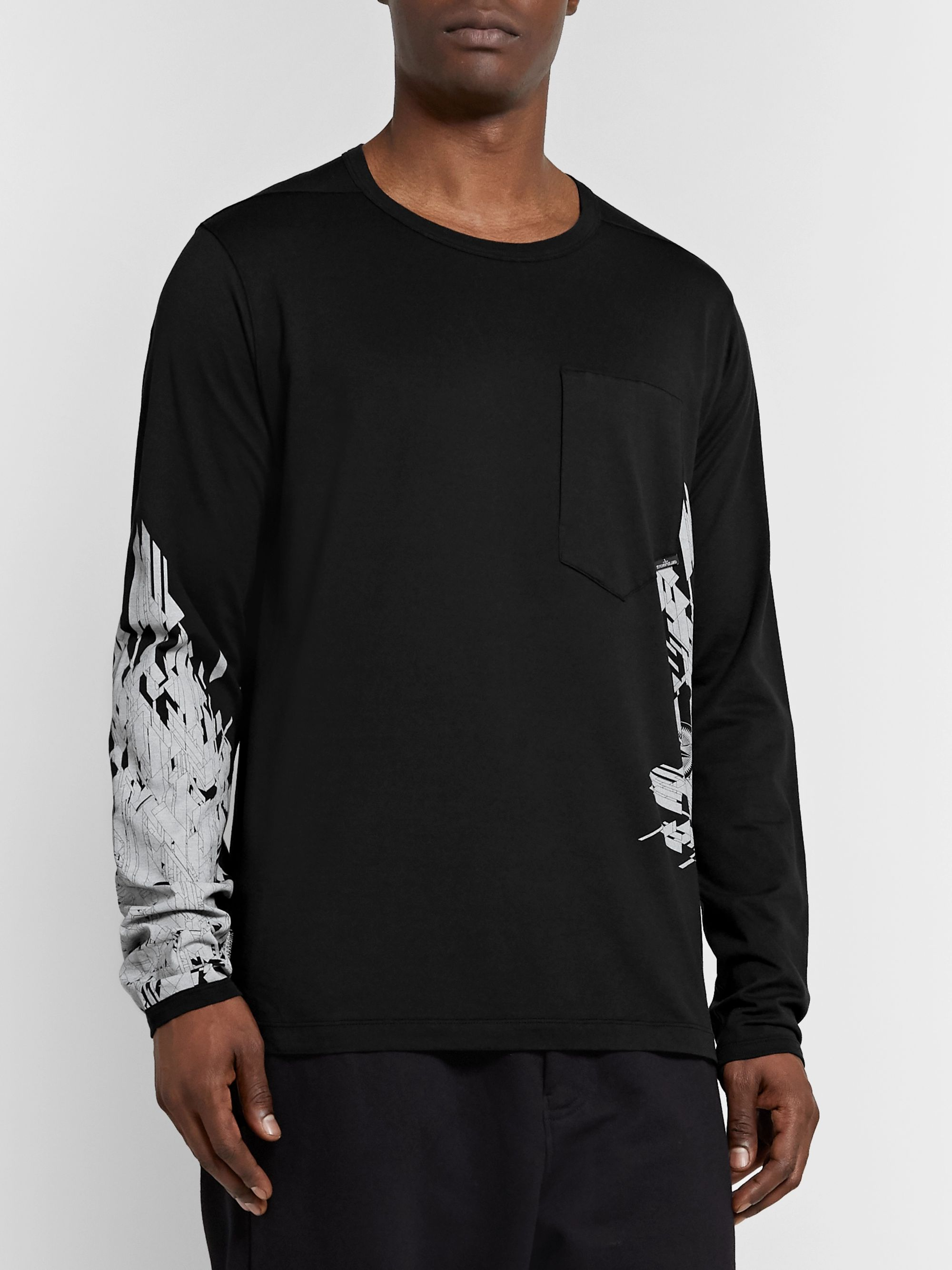 Stone Island Shadow Project Printed Cotton-Jersey T-Shirt