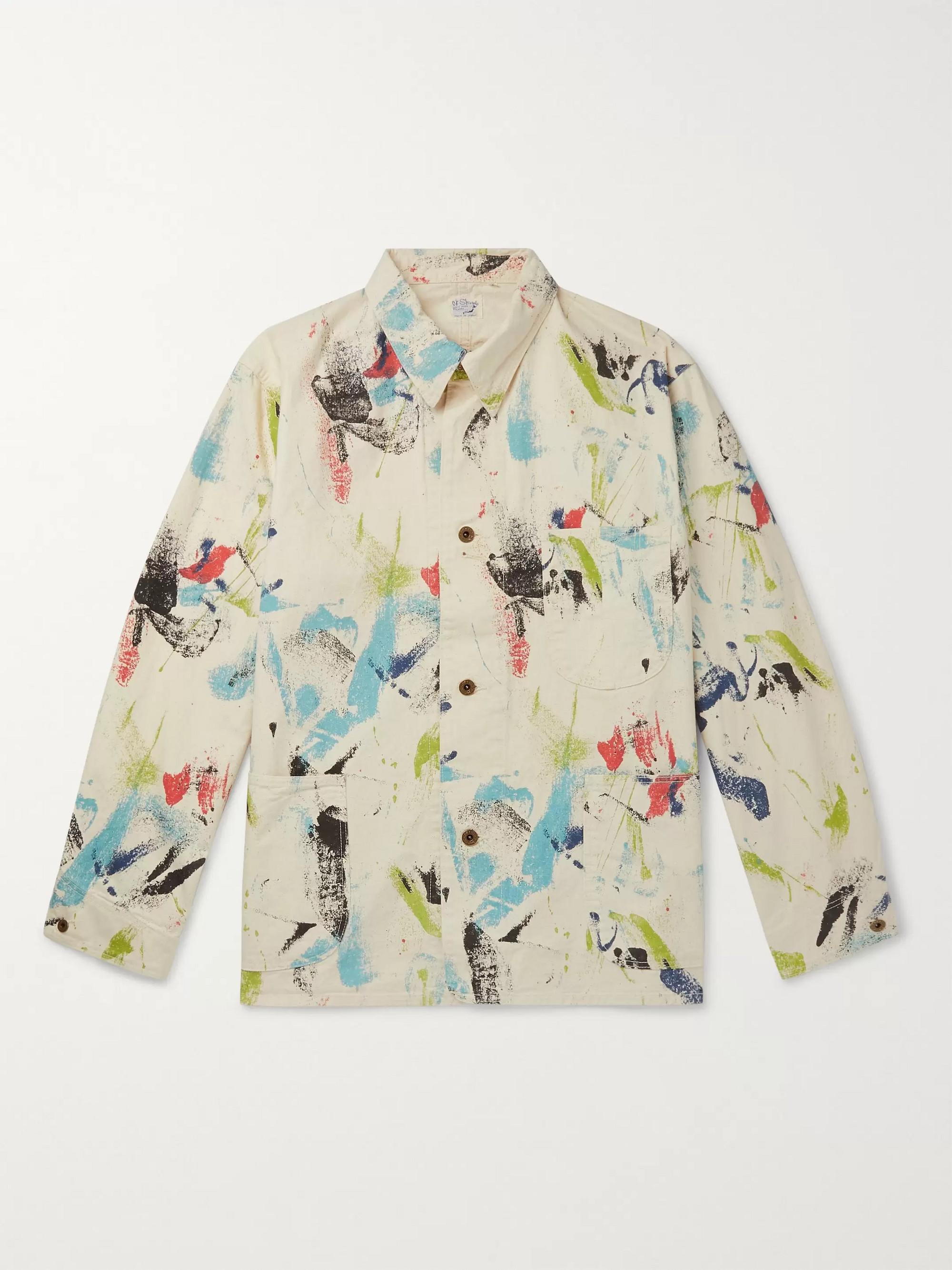 OrSlow Printed Denim Chore Jacket