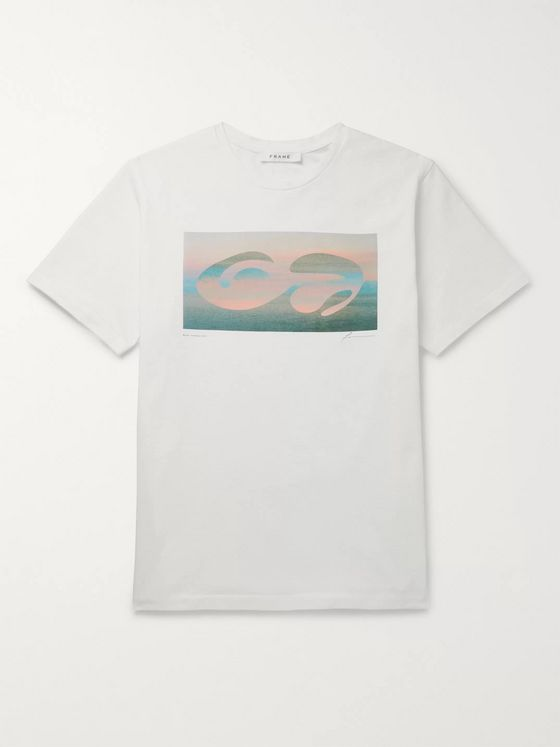 FRAME Printed Cotton-Jersey T-Shirt