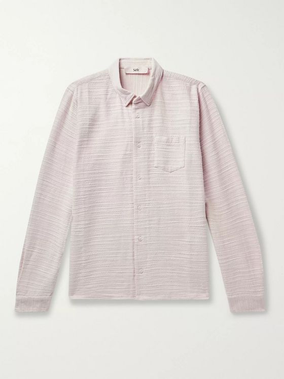 Séfr Hampus Textured-Cotton Shirt