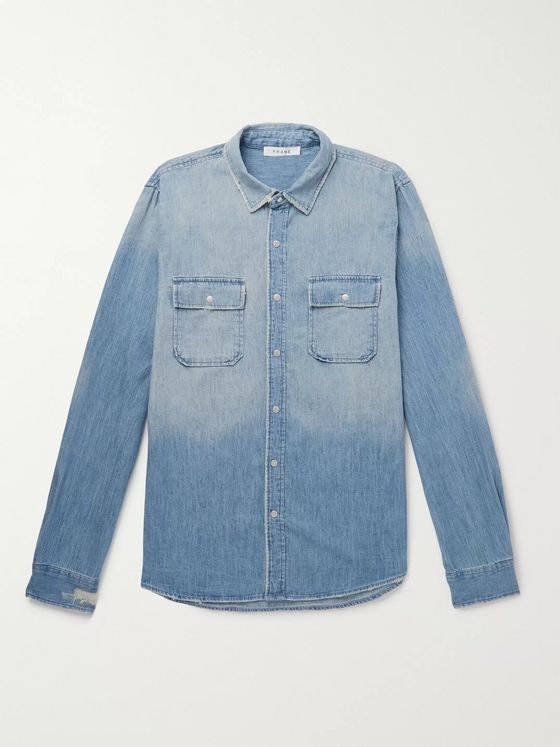 FRAME Distressed Denim Shirt