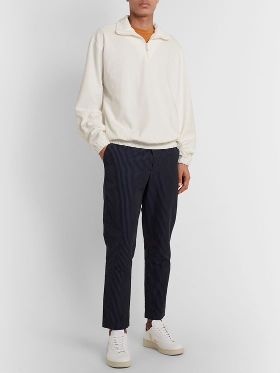 Howlin' Homer Cotton-Blend Terry Half-Zip Sweatshirt