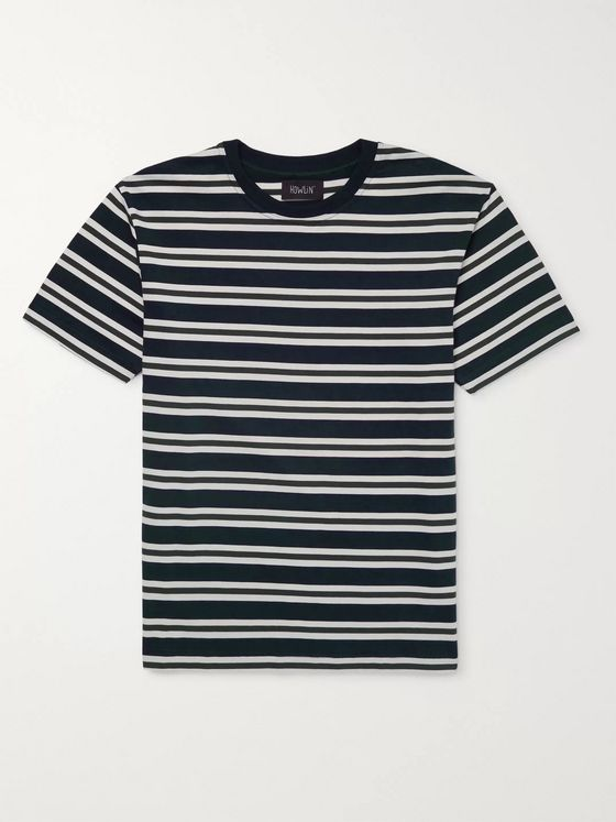 Howlin' Acid Rain Striped Cotton-Jersey T-Shirt