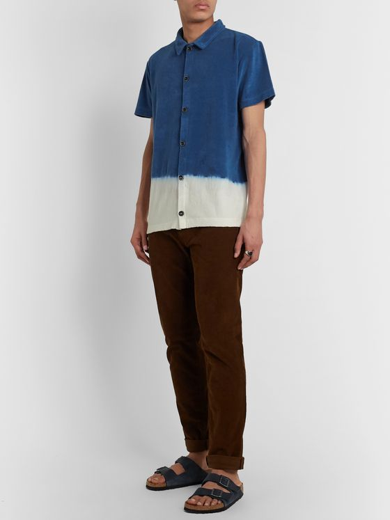Howlin' Light Flight Two-Tone Cotton-Blend Terry Shirt