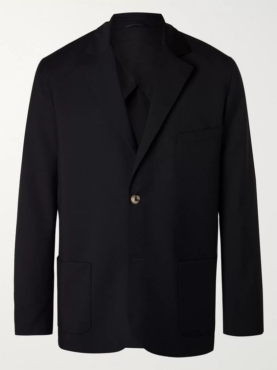 De Bonne Facture Unstructured Wool Suit Jacket