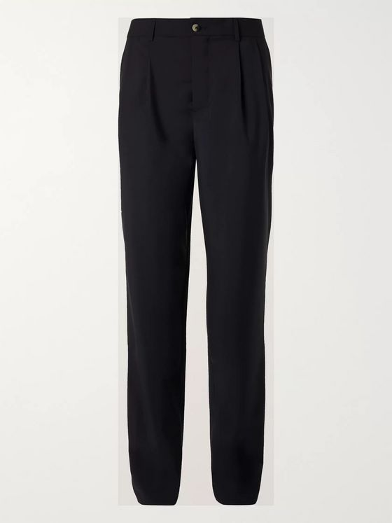 De Bonne Facture Tapered Cotton-Drill Trousers