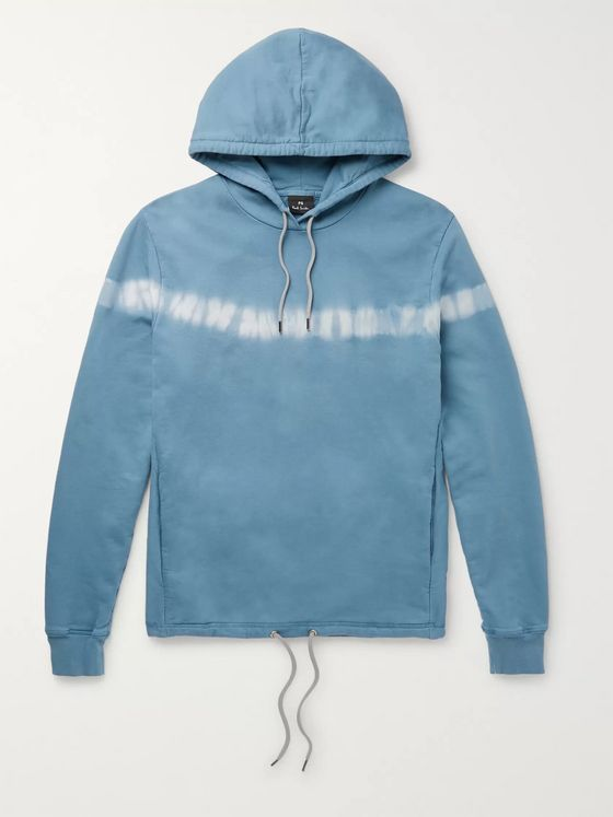 PS Paul Smith Tie-Dyed Loopback Cotton-Jersey Hoodie