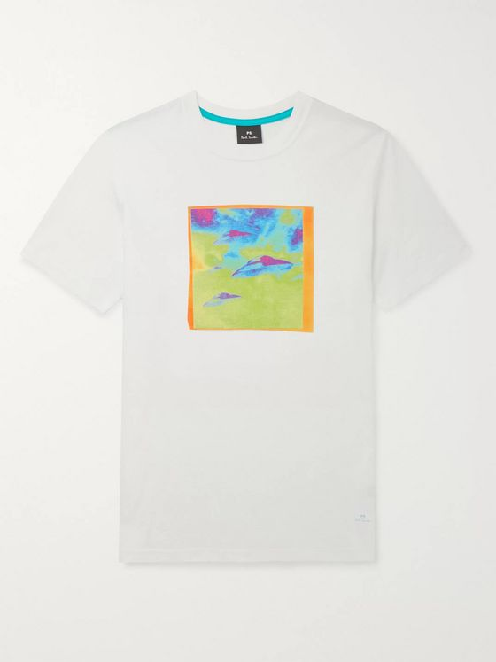 PS Paul Smith Printed Cotton-Jersey T-Shirt