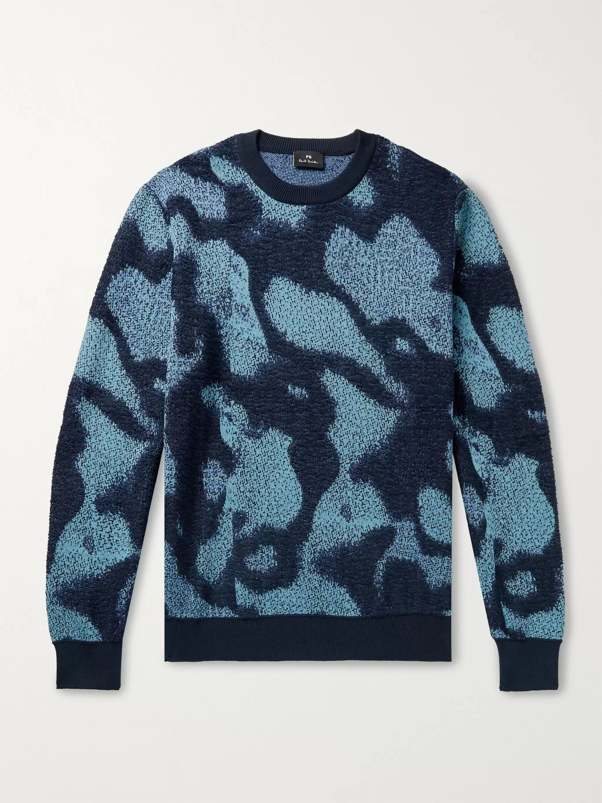 PS Paul Smith Heat Map Cotton-Jacquard Sweater