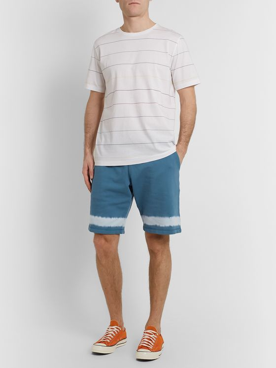 PS Paul Smith Tie-Dyed Cotton-Jersey Drawstring Shorts