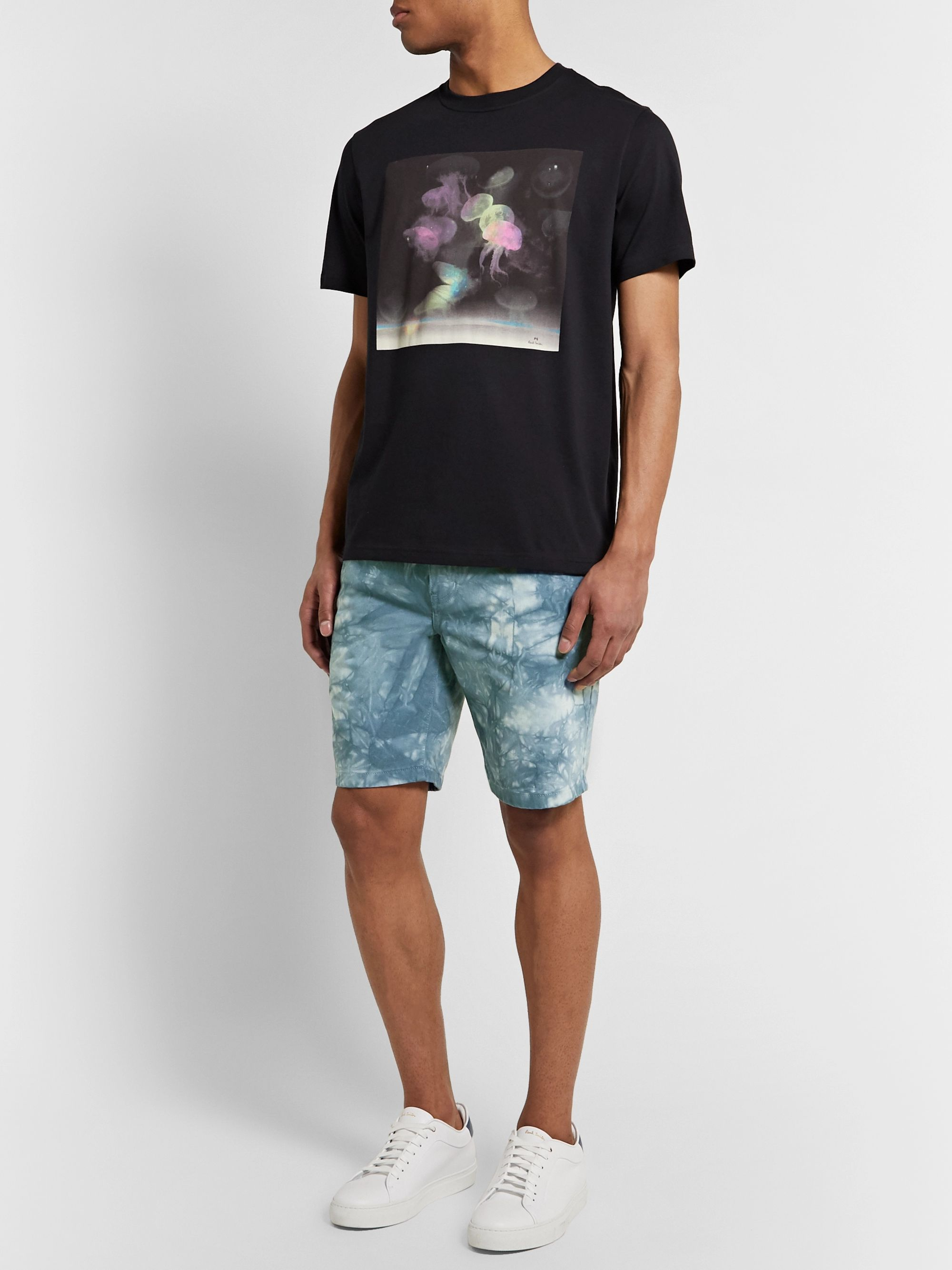 PS Paul Smith Slim-Fit Tie-Dyed Denim Shorts