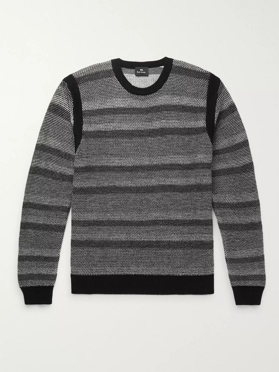 PS Paul Smith Striped Wool and Cotton-Blend Sweater