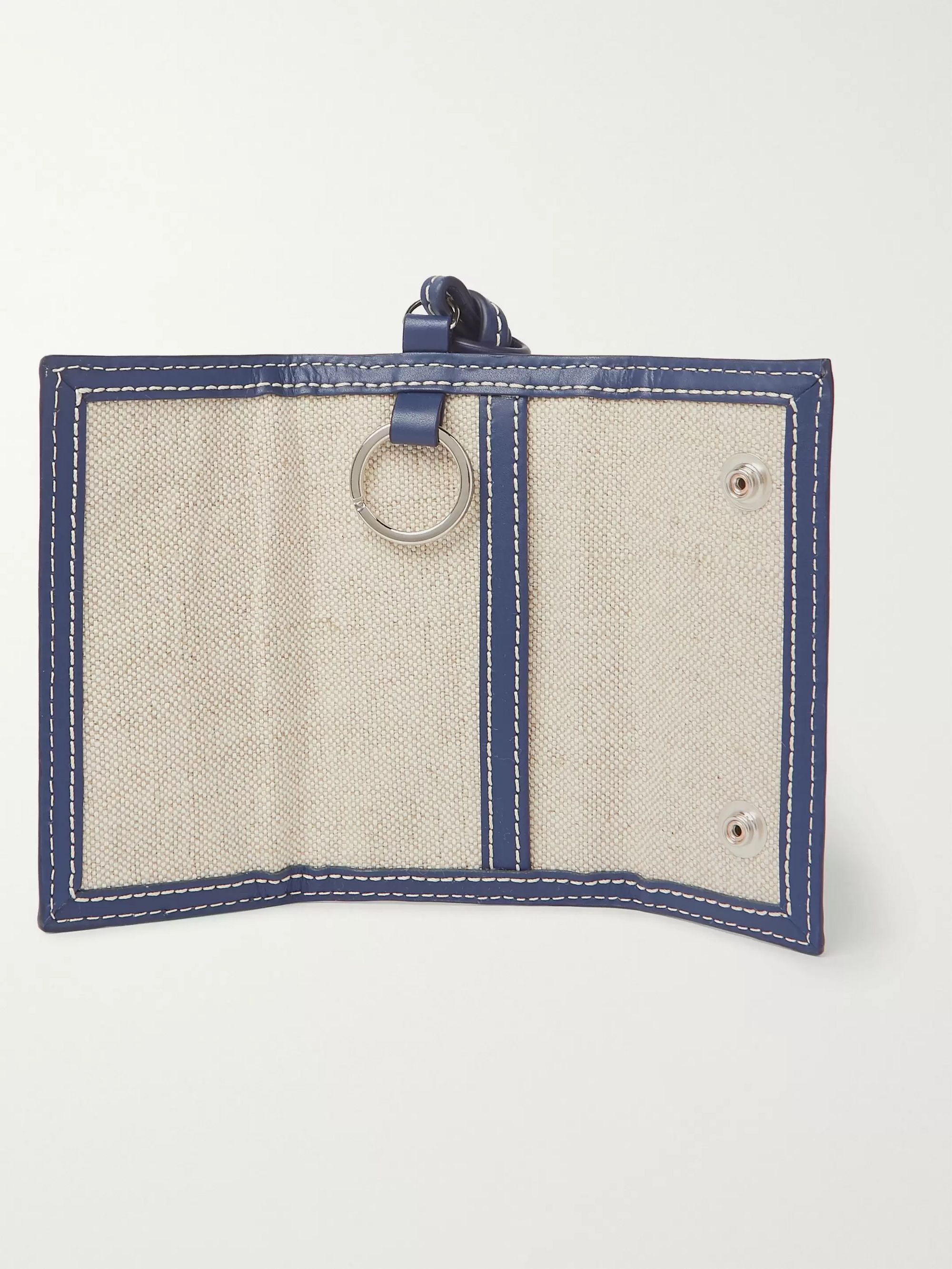 Jacquemus Le Porte Manosque Logo-Embellished Leather-Trimmed Canvas Pouch