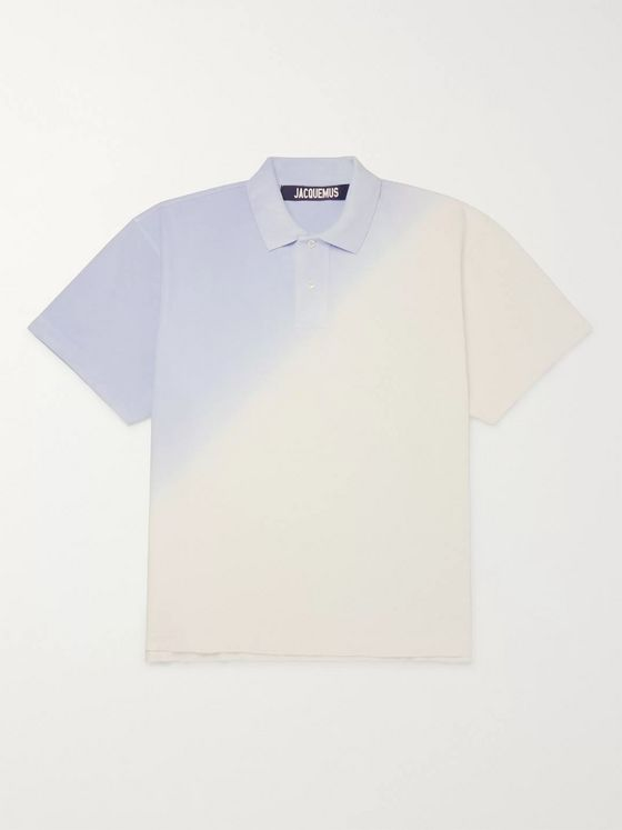 Jacquemus Oversized Tie-Dyed Organic Cotton-Piqué Polo Shirt