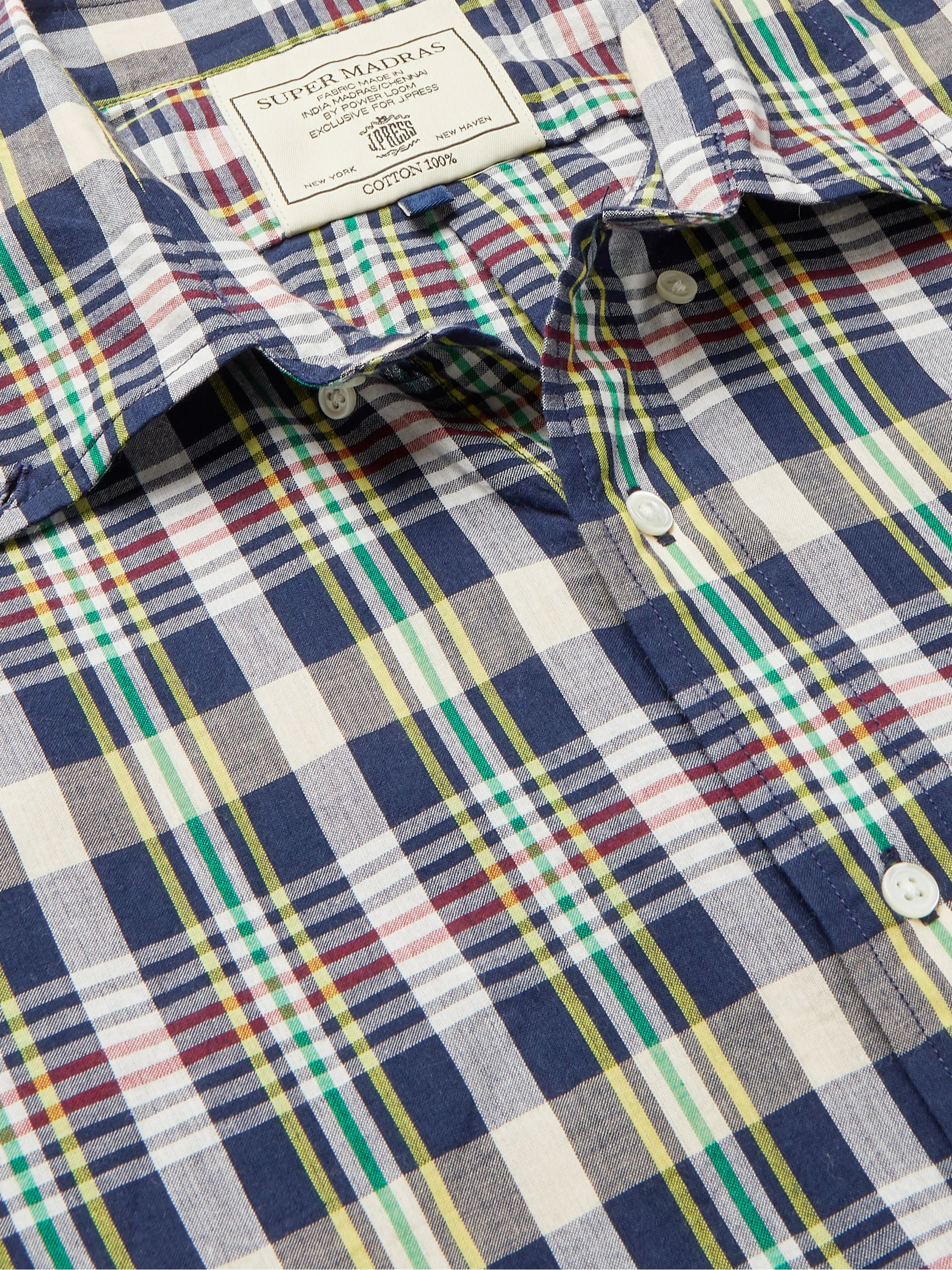 J.Press Button-Down Collar Checked Cotton Shirt