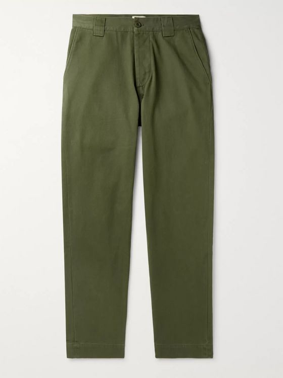 Bellerose Slim-Fit Cotton-Twill Trousers