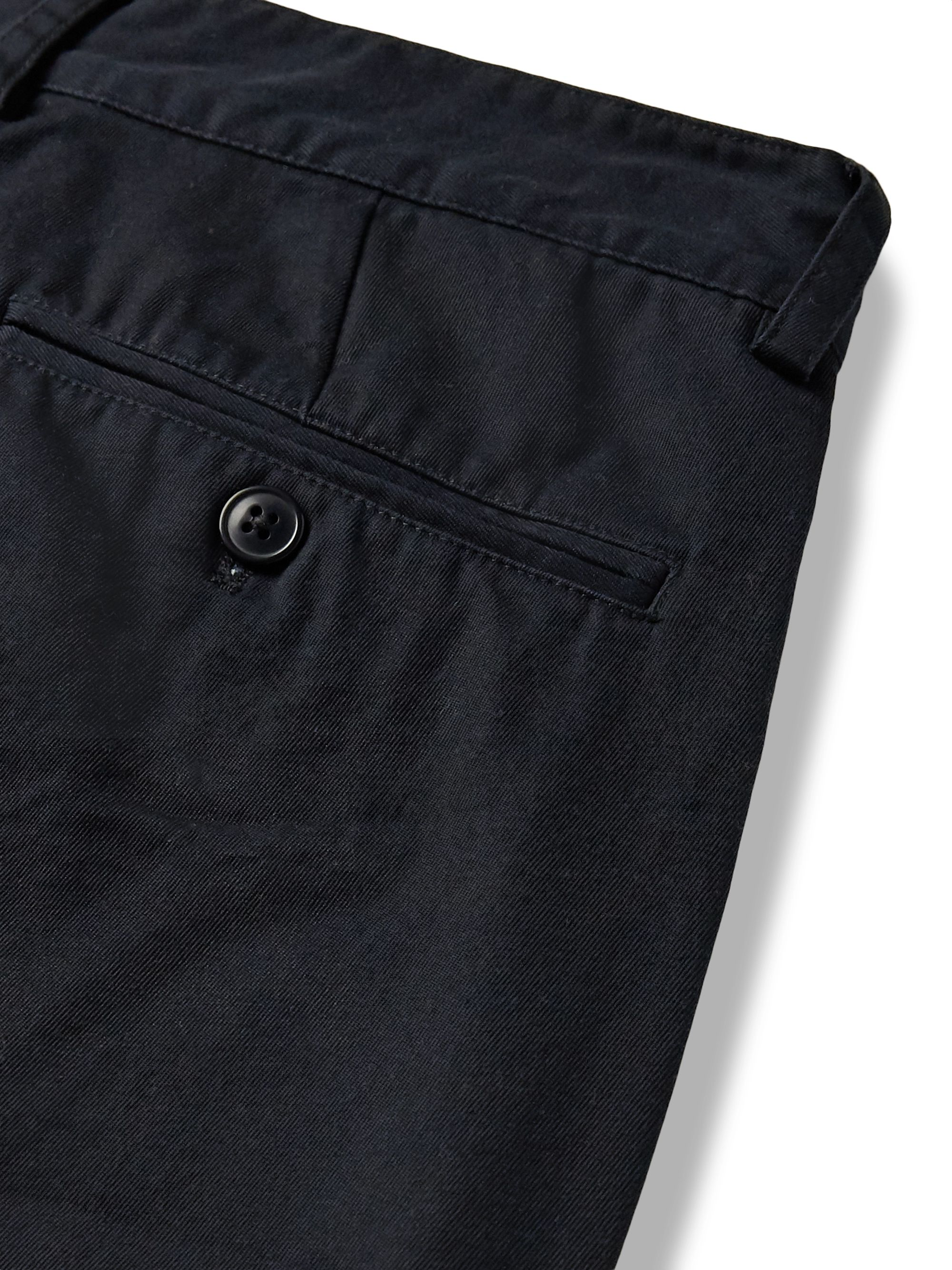 Bellerose Midnight-Blue Pleated Cotton-Twill Trousers