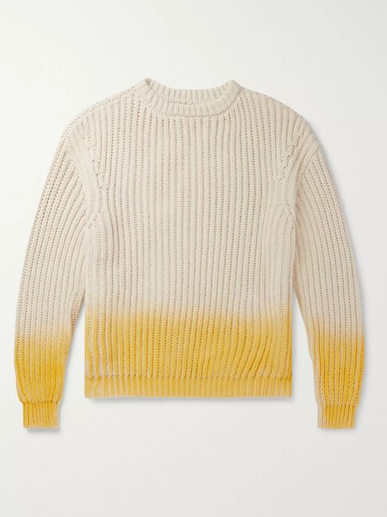 Jacquemus Dégradé Ribbed-Knit Cotton Sweater